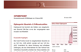 Cipherpoint: Quartals- & 9 Monatszahlen