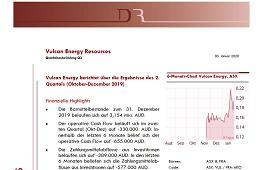 Vulcan Energy berichtet über die Ergebnisse des 2. Quartals (Oktober-Dezember 2019)