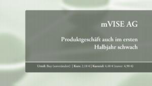"""08.09.2020: mVISE: Update: SMC Research – """"Umsatz im ersten Halbjahr erhöht, Produktgeschäft schwach"""""""